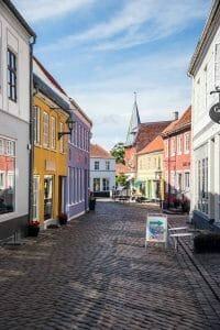 Colorful town in Denmark