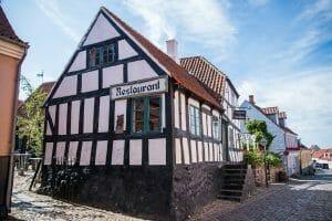 Half timber house in Ebeltoft, Denmark