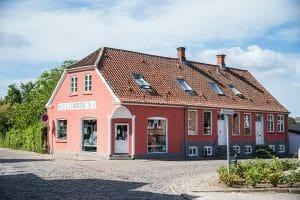 Pink house in Denmark