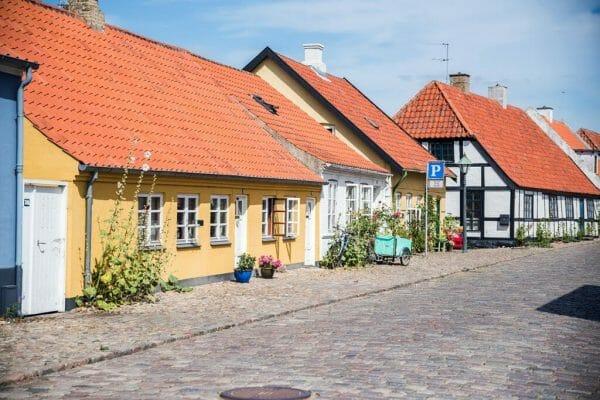 Half-timber houses in Denmark
