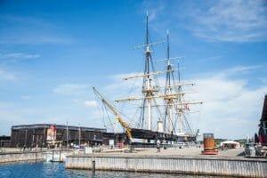 Boat museum in Ebeltoft, Denmark