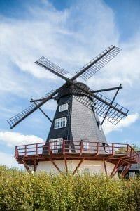 Windmill in Ebeltoft, Denmark