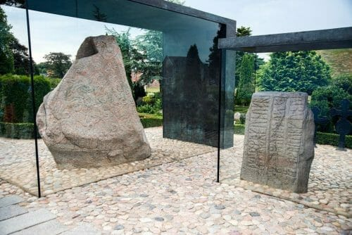 Jelling rune stones in Denmark