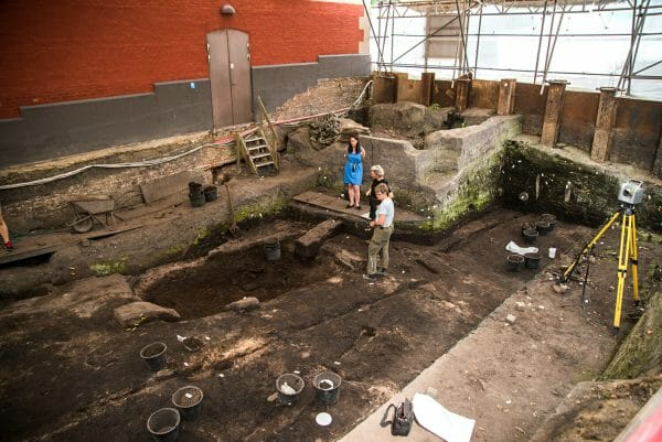 Archaeological dig in Ribe, Denmark