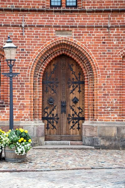 Historic church door in Denmark