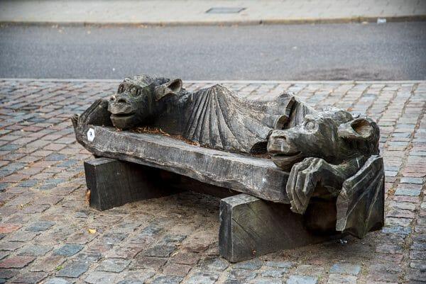 Dragon bench in Silkeborg