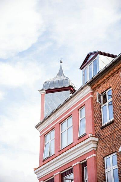 Pink building in Silkeborg