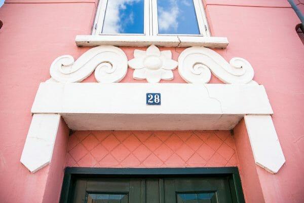 Pink house in Silkeborg, Denmark