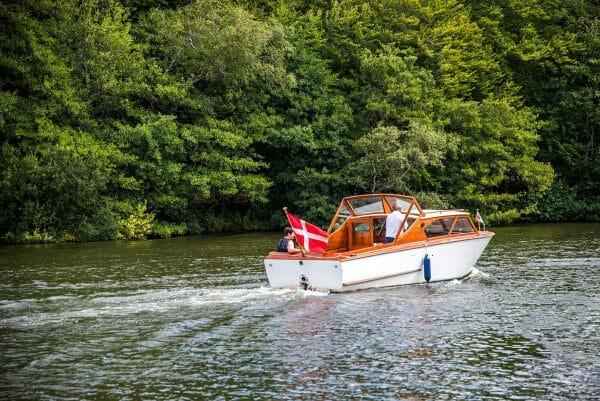 Boating in Silkeborg, Denmark