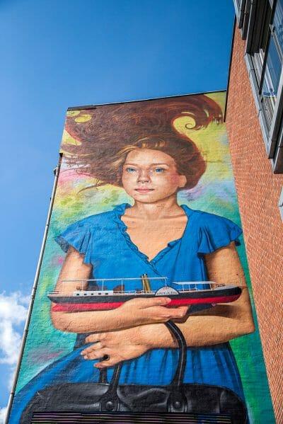 Mural in Silkeborg, Denmark