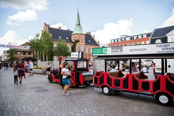 Center square in Silkeborg, Denmark