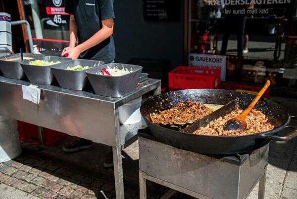 Street food in Silkeborg, Denmark