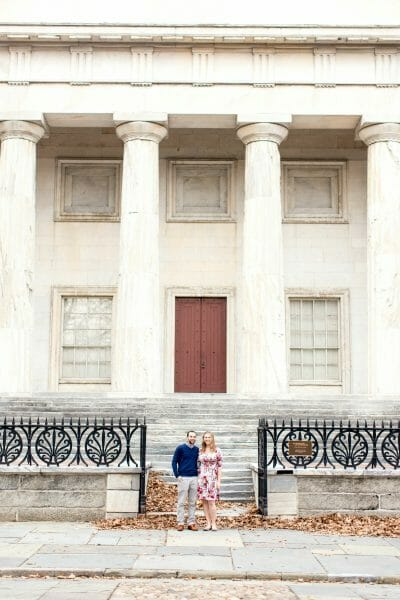Engagement photos by the Second Bank in Philadelphia