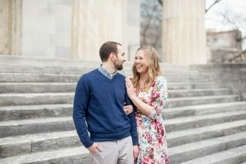 Engagement photoshoot in Old City Philadelphia