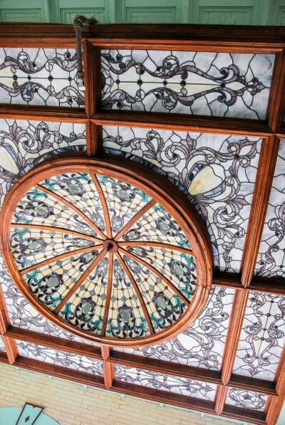 Stained glass dome in Key West