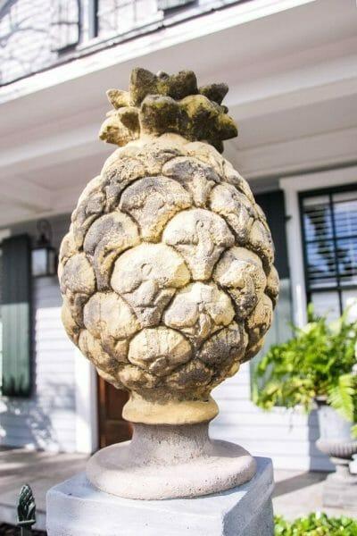 Pineapple gate topper