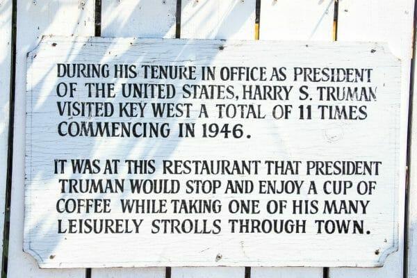 Key West historic restaurant