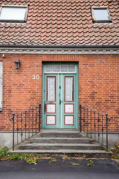 Colorful doors in Denmark