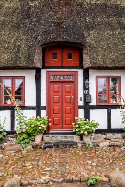 Half-timbered houses in Denmark
