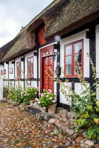 Straw roof house in Denmark