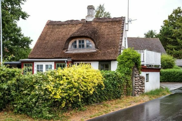 Straw roof house in Samsø