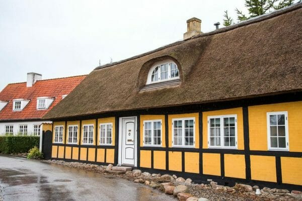 Half-timbered houses in Nordby, Samsø