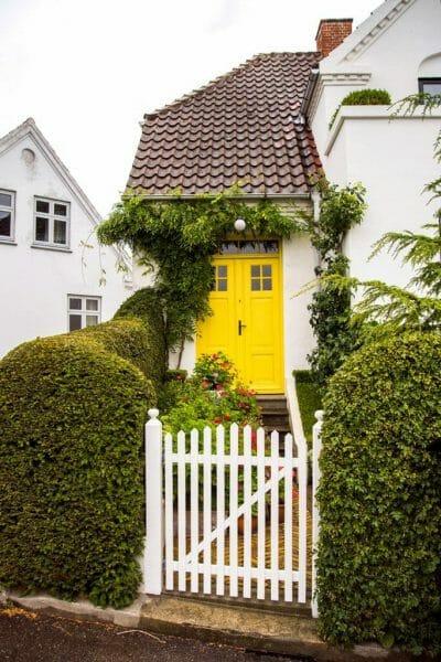 Yellow door in Denmark