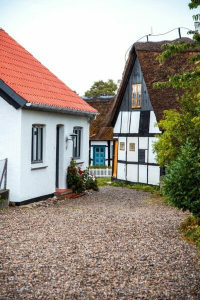 Half-timbered houses in Nordby, Denmark