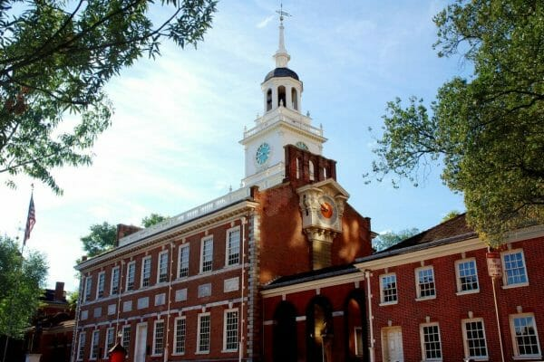 Tour of Independence Hall in the fall
