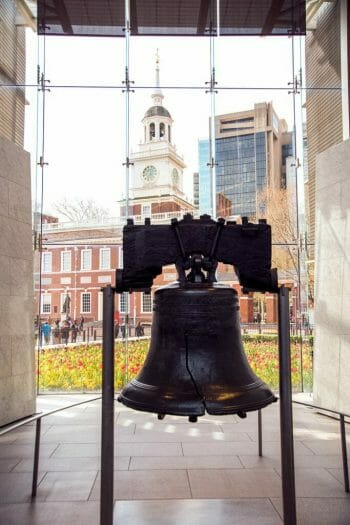 Visiting the Liberty Bell in spring