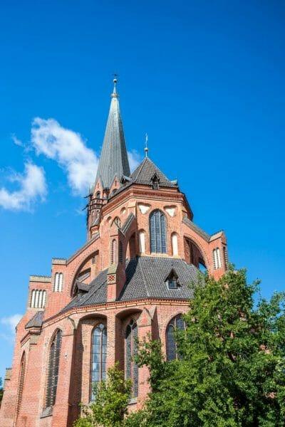Historic German church in Luneburg