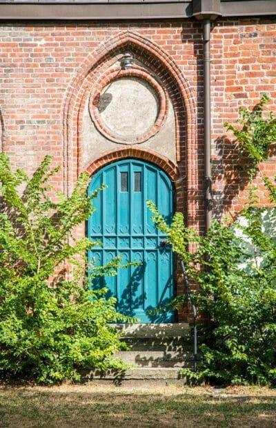 Turquoise door in Germany