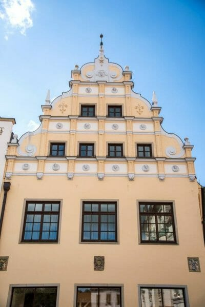 Ornate yellow building in Luneburg