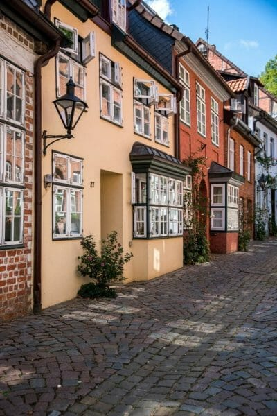 Yellow house in Luneburg