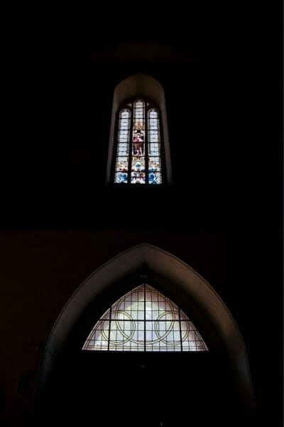 Stained glass windows in Lüneburg church