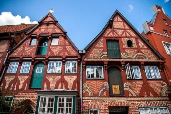 Ornate brick house in Luneburg