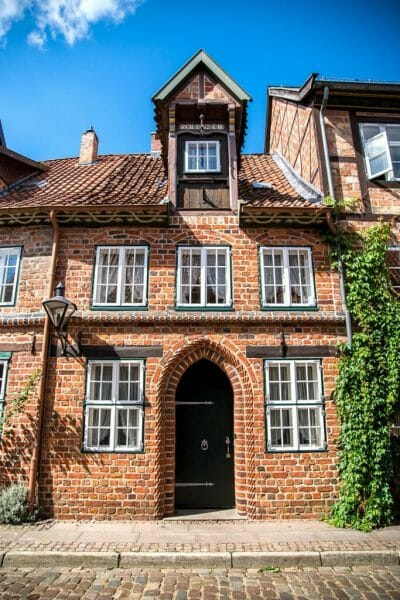 Historic brick house in Germany