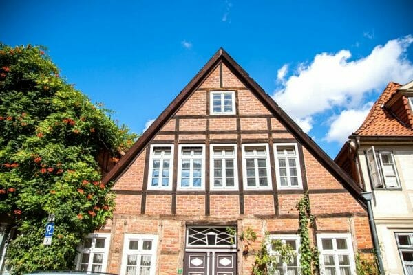 Brick triangle house in Germany
