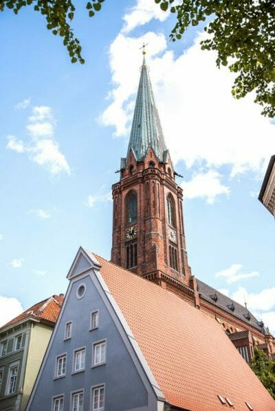 Church tower in Luneburg