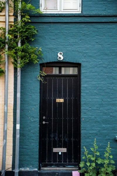 Teal house in Copenhagen
