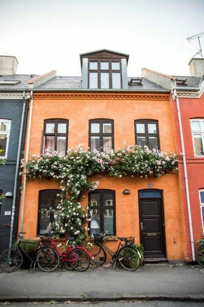 Colorful houses in Copenhagen
