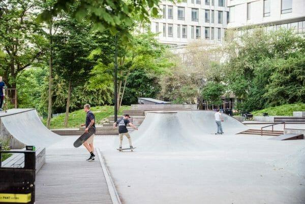Skateboarding at Fælledparken