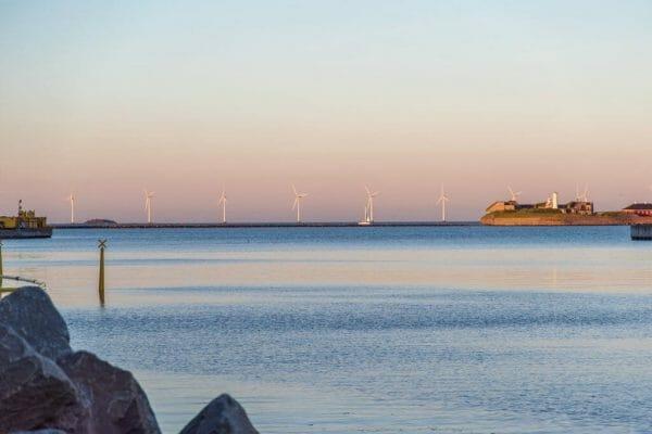 Wind turbines in Copenhagen