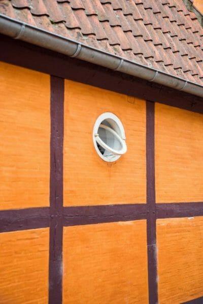 Orange half-timbered house in Copenhagen