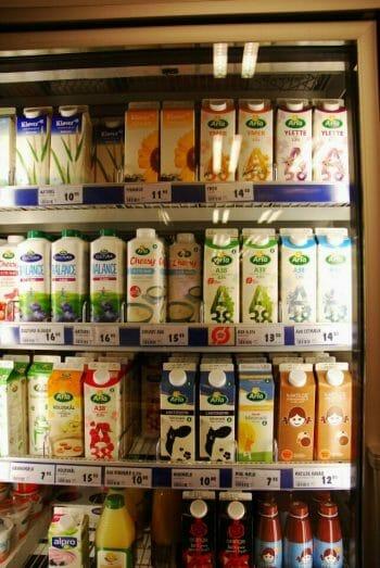 Yogurt cartons in Denmark
