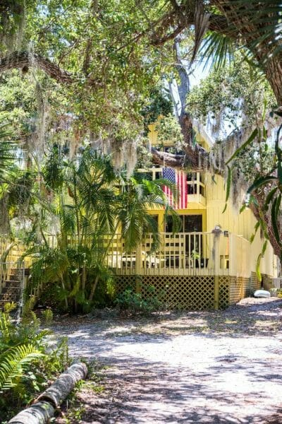 Yellow house on Cabbage Key, Florida