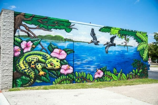 Mural in downtown Fort Myers