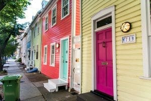 Colorful houses in Baltimore