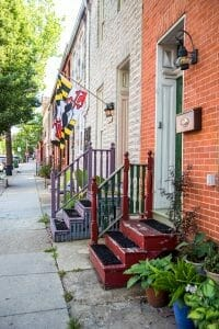 Townhouses in Fell's Point Baltimore