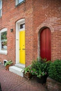 Colorful doors in Baltimore